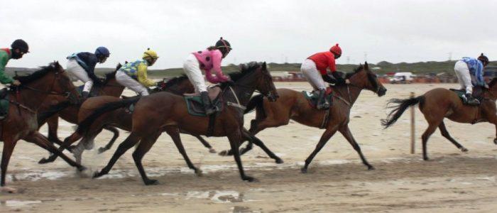 Horse Racing On The Beach